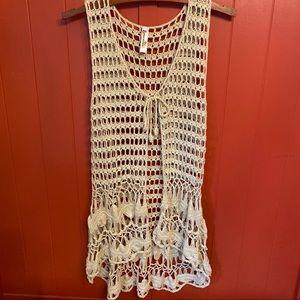 Shoreline crocheted boho vest